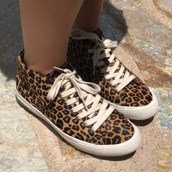 Leopard Print Seavees Midtop Sneakers
